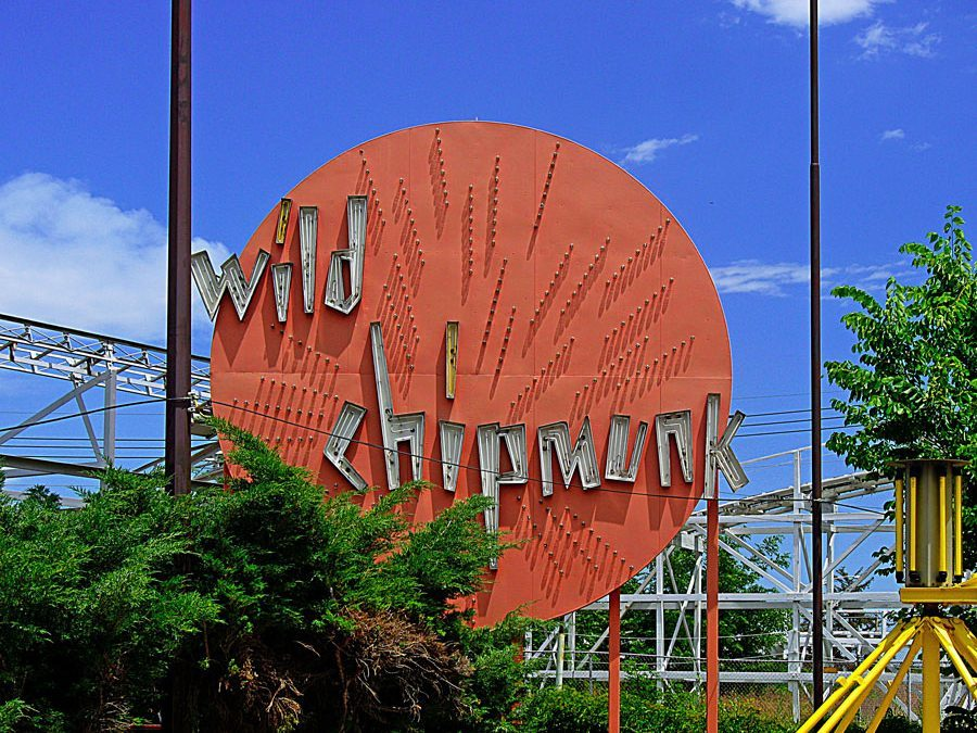 Wild Chipmunk Sign from Lakeside