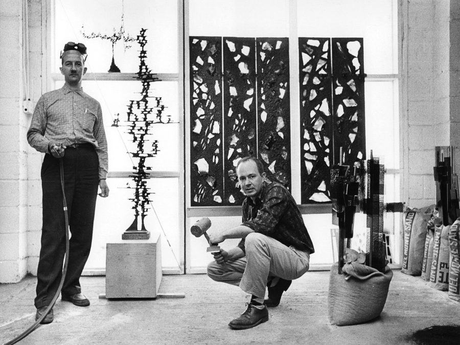 Denver Sculpters Earl Fraser and Wilbert Verhels
